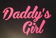 """Pink on BLACK SHIRT, cotton shirt for your Daughter. The perfect companion shirt for the Dad who has the Rules for dating my Daughter"""" shi."""