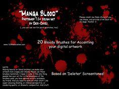 Manga Blood - Download  Photoshop brush http://www.123freebrushes.com/manga-blood/ , Published in #BloodSplatter, #GrungeSplatter. More Free Grunge & Splatter Brushes, http://www.123freebrushes.com/free-brushes/grunge-splatter/ | #123freebrushes