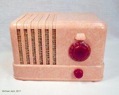 Pink General Electric Bakelite Radio