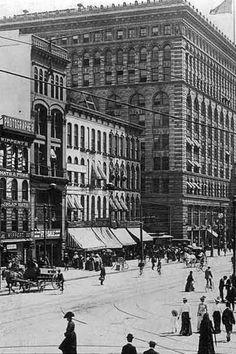 ellicott square building, 1906
