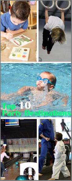 10 Great Party Destinations- I LOVE destination bday parties- no mess to clean up after :)