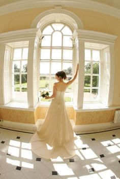 Elegant photography in the beautiful Long Gallery at Hintlesham Hall. The wedding venue is near Ipswich in Suffolk. Wedding Images, Wedding Venues, Elegant, Wedding Dresses, Gallery, Pictures, Photography, House, Beautiful