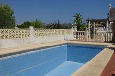 swimming pool area in moraira villa