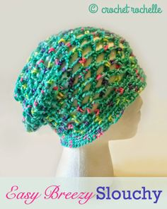 Crochet Rochelle: Easy Breezy Slouch Hat Pattern