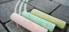 Kreide selber machen: Straßenmalfarben aus 3 Zutaten