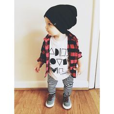 It was chilly this morning! Graeme is ready for Fall. #beauhudson #finomenonkids #saltcityemporium  Flannel-Target Shoes- Zara  Beanie-Beau Hudson Shirt- Finomenon kids/ Finn and Vince Leggings-Salt City Emporium