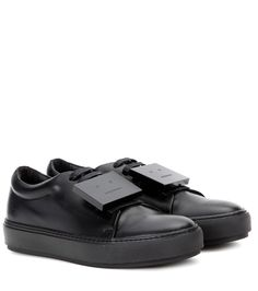 For Yourself And Someone Special At The Sales 2016 Women's Acne Studios Black Leather Sneakers Adriana Turnup Sneakers Shoes Leather Acne Studios.Acne Studios 2016 Women's Black The Latest Design Concepts. Black Leather Sneakers, Leather Shoes, Black Shoes, All Black Sneakers, Buy Sneakers, Pretty Shoes, Acne Studios, Real Leather, Designer