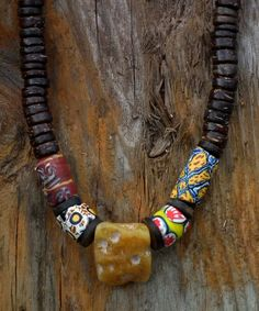 Amber & Trade Bead necklace