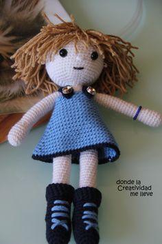 Ravelry: My sister doll pattern by N Triskel Amigurumi Patterns, Amigurumi Doll, Doll Patterns, Knitted Dolls, Crochet Dolls, Crochet Doll Pattern, Crochet Patterns, Dolly World, Pattern Library