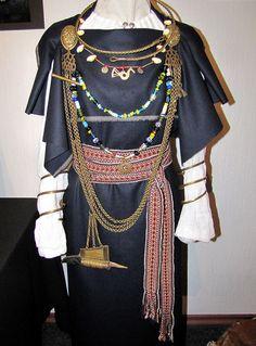 http://www.flickr.com/photos/perignon/7255386380/  Liivi naise rõivad ja ehted - näitus Eesti Käsitöö Maja galeriis, Tallinn by pitsimeister, via Flickr