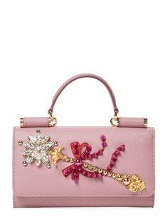 Von Mini Embellished Leather Crossbody from Designer Handbag Shop: Perfect Carryalls on Gilt