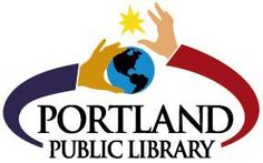 The logo for the Portland Public Library