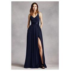 Bridesmaid dresses - navy Vera Wang