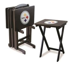 Pittsburgh Steelers 4 TV Trays With Stand