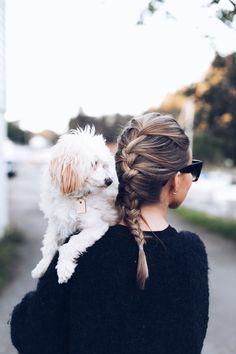 Gleden med å ha hund - Eirin Kristiansen Good Vibes, Cute Hairstyles, Hair Inspiration, This Is Us, Hair Styles, Faces, Cozy, Animals, Life