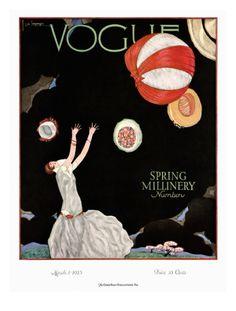 Illustration Art Print featuring the photograph A Vintage Vogue Magazine Cover Of A Woman by Georges Lepape Capas Vintage Da Vogue, Vogue Vintage, Vintage Vogue Covers, Art Deco Illustration, Fashion Illustration Vintage, Woman Illustration, Magazin Covers, Vogue Magazine Covers, Poster Vintage