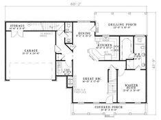 Cape Cod House Plan 62134 Level One
