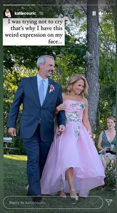 Bridesmaid Dresses, Prom Dresses, Wedding Dresses, Marchesa Gowns, Katie Couric, Mother Of The Bride Gown, Bride Gowns, Short Hair Cuts For Women, Ball Gown Dresses