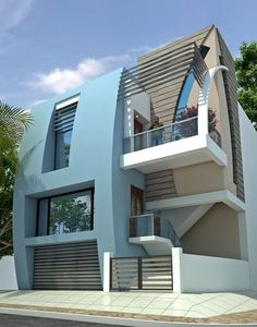 Top 30 Most Beautiful Houses Front Designs 2019 - Engineering Discoveries Village House Design, Unique House Design, Bungalow House Design, House Front Design, Modern Design, Home Building Design, House Elevation, Front Elevation, Facade House
