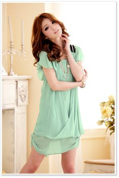 Wholesale Japanese Dress J3212 Green