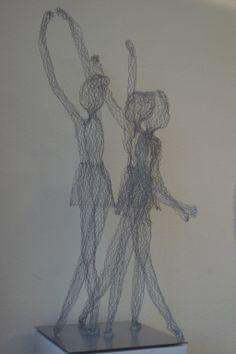 Danseuses - Tänzerinnen, fil de fer - Draht, 108 cm, 2013