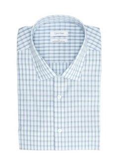 Calvin Klein Lake Mist Big  Tall Steel Non Iron Performance Dress Shirt