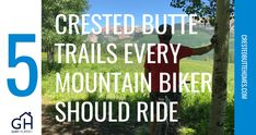 Five Crested Butte Trails Every Mountain Biker Should Ride Lupine Flowers, Emerald Lake, Crested Butte, Valley View, Real Estate Marketing, Biker, Trail, Mountain, Lifestyle