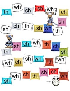 A fun center activity that has students practicing consonant digraphs and spelling patterns. Students match word cards to the correct digraph teaching Kindergarten Language Arts, Teaching Kindergarten, Student Teaching, Word Study, Word Work, Classroom Activities, Learning Activities, Kids Learning, Classroom Ideas