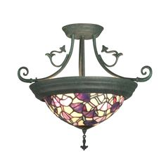 Shop Dale Tiffany  TH10965 Pink Floral Bowl Semi Flush Mount Ceiling Light at ATG Stores. Browse our semi flush ceiling lights, all with free shipping and best price guaranteed.
