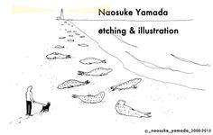 山田奈乙介銅版画&イラストレーション