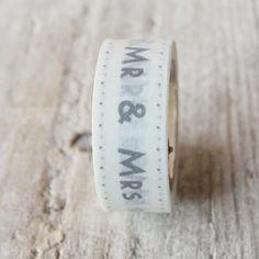 washi tape Mr & Mrs. 4,40€