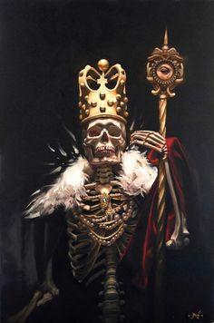Image result for skull king painting