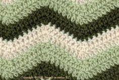 Resultado de imagem para chevron crochet pattern