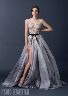 Paolo Sebastian Autumn/Winter 2015 collection –The Sleeping Garden Collection  See more on Love4Wed  http://www.love4wed.com/paolo-sebastian-2015/   #paolosebastian #illusionbodice