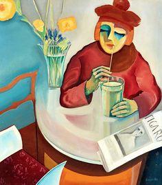 Bo von Zweigbergk 1897-1940 Woman at café