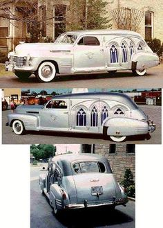 1941 Cadillac Carved Panel Hearse