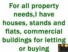 Nyasha Muchechesi - for all property needs, I have houses,stands and flats, commercial buildings for letting or buying http://www.siyasomarket.com/classified/clsId/15202/consultancy_and_advisory_services/