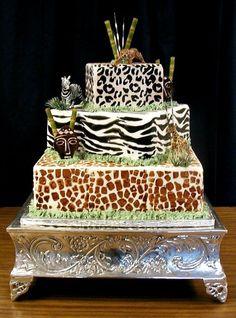 Safari Wedding Cake @Nicole Novembrino Novembrino Novembrino O., I'm making this for your wedding ;)