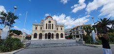 Kreta-Rethymon-3 Märtyrer Kirche Kirchen, Notre Dame, Travelling, Mansions, House Styles, Building, Home, Mosque, Crete