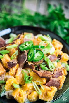 Jalapeno Bacon Potato Salad - Spice up your potato salad -- jalapenos mixed with savory pieces of crumbled bacon and creamy mayonnaise make this a favorite!