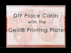 DIY Place Cards with Gelli® Printing Plates! Make your own, personalized table place cards! Watch as Roberta uses the 12x14 and 3x5 Gelli printing plates to add that personal touch to her dinner party - elegant DIY place cards!  Visit our website to see our entire line of gel printing plates: www.gelliarts.com  JOIN THE GELLI® CONVERSATION!  Visit our Gelli Arts® blog for tutorials, techniques and lesson plan ideas: gelliarts.blogspot.com  Like us on Facebook: www.facebook.com/GelliArts Foll...