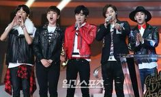 B1A4 B1a4, Jinyoung, Dong Woo, Lee Jung, Bomber Jacket, Sexy, Cute, Jackets, Dancing