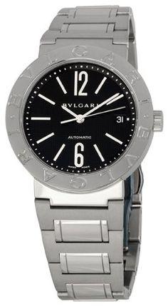 Bvlgari Women's BVLBB38BSSDAUTON Black Dial Watch