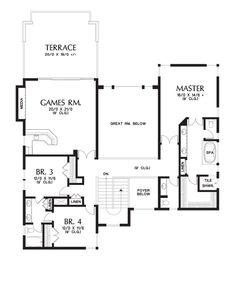 Upper Floor Plan of Mascord Plan 2475 - The Summerville - A Contemporary Street of Dreams Design of Luxurious Proportions