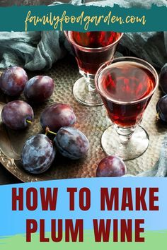If you have an abundance of plums that you're not sure what to do with, you could try our guide on how to make plum wine. Using sweet plums only will produce a type of dessert wine, and if you'd rather enjoy a more balanced wine, combine sweet and tart plums. We recommend using Yellow, sweet, greengage, or damson plums. For a complete list of supplies, a few winemaking basics, and a delightful recipe, check out our article here. #HowToMakePlumWine #PlumWine #MakeWine #WineMaking Wine Recipes, Whole Food Recipes, Damson Plum, Healthy Fruits And Vegetables, Plum Wine, Types Of Desserts, Fermented Foods, New Flavour, Few Ingredients