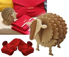 Felt and Cardboard Animals by Boogie Design