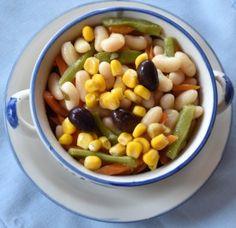 #Ensalada #macrobiótica templada de legumbres