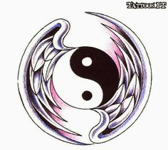 Thousands of free photos, artists, studios and meanings. Arte Yin Yang, Yin Yang Art, Yin Yang Tattoos, Cool Pictures To Draw, Yen Yang, Kreis Tattoo, Yin Yang Designs, Angel And Devil, Cute Dragons
