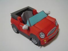 This paper car is a SD Mini, created by . You can download this papercraft template here: SD Mini Paper Car Free Paper Model Download