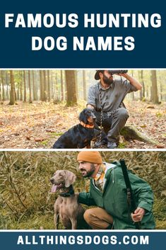 It might be a good idea to have your dog's name reflect various aspects of hunting – like 'Bullet' or 'Boomer' or something more traditional, like 'Winchester', bestowing steadfastness. No matter what breed you have, check ou tour list of some famous hunting dog names, which will suit your hunting partner.  #famoushuntingdognames #huntingdognames #famousdognames Hunting Dog Names, Best Dog Names, Winchester, Your Dog, Labrador Retriever, Cute Animals, Tours, Pets, Bullet